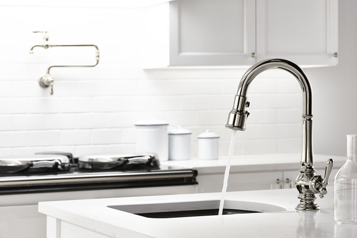 Kitchen Faucets Kohler : ... Kitchen Faucet with ProMotion, MasterClean and DockNetik Technologies