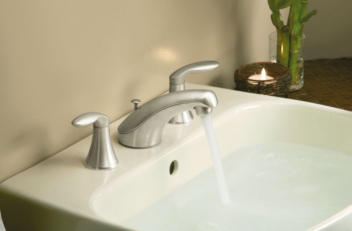 Kohler Worth Faucet : Kohler K-2293-8-0 White Wellworth Pedestal Sink with 8