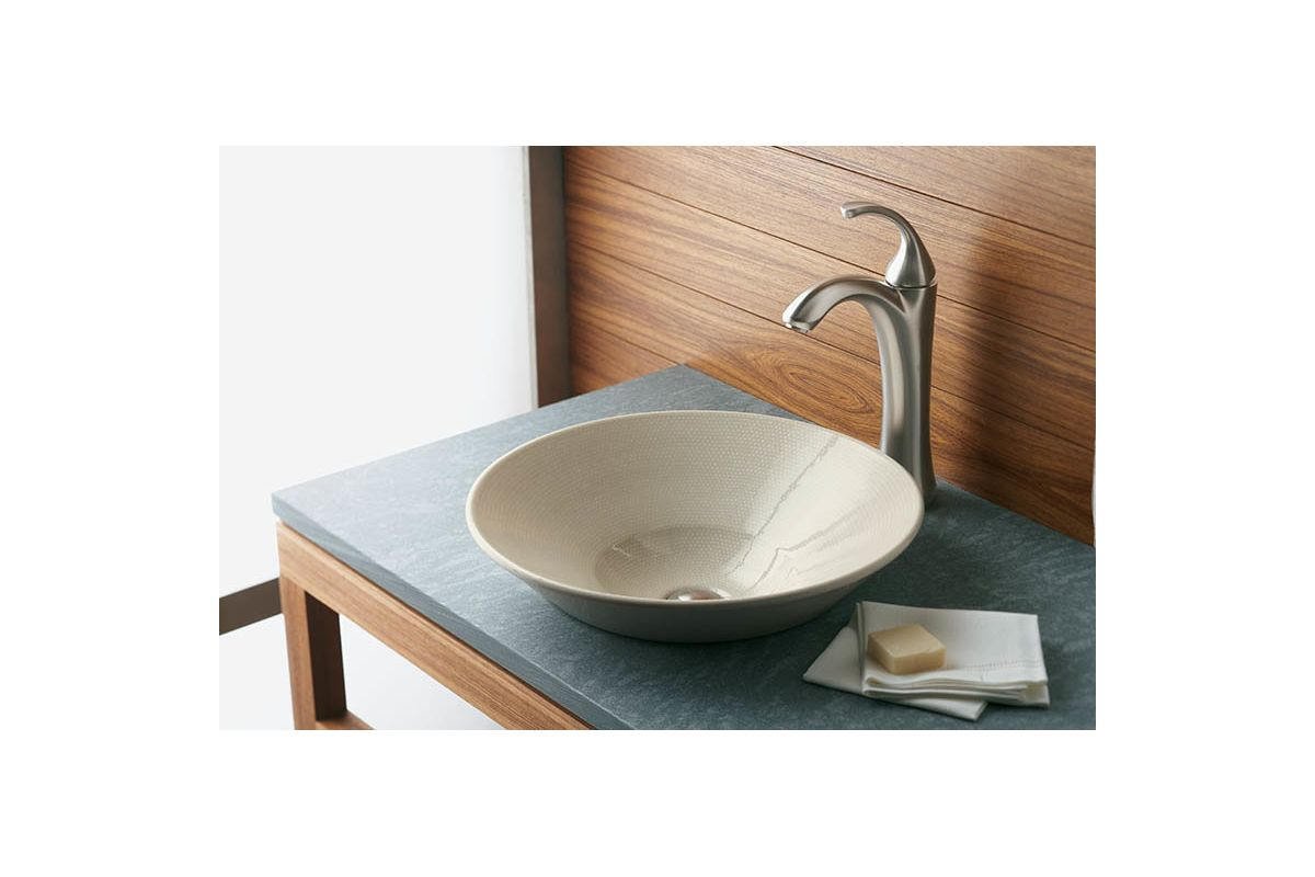 boucle muslin conical bell 16 1 4 drop in vitreous china vessel sink