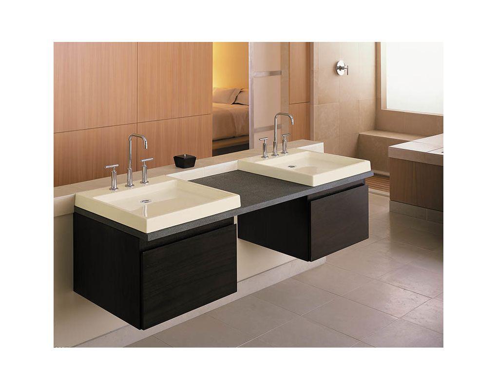 Kohler Purist Sink : Kohler K-2314-8-47 Almond Purist 22