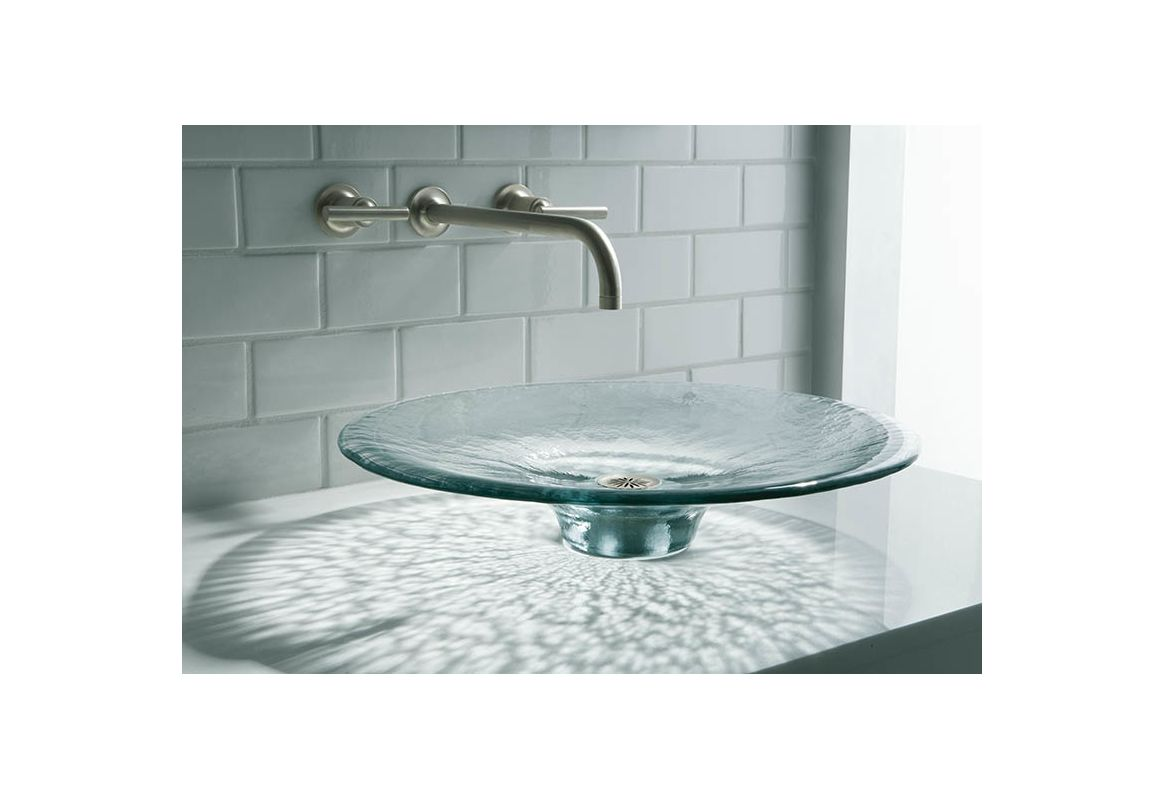 Kohler K-2367-B11 Ice Artist Editions Lavinia Glass 3-7/8