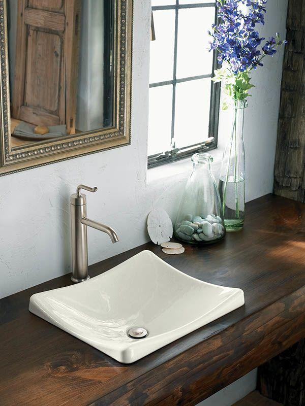 Kohler Lavatory Sinks : ... 2833-47 Almond DemiLav 18-1/4