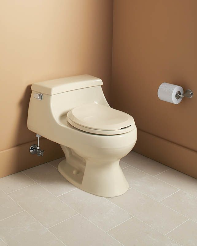 Kohler Colored Toilets : Kohler K-3386-0 White Rialto One-piece Round Front Toilet with Seat ...
