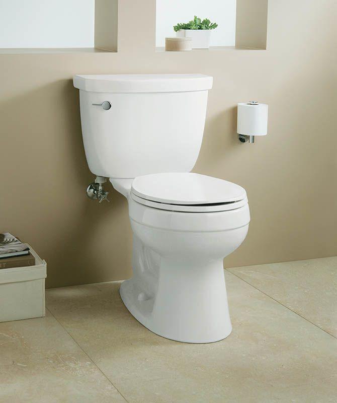 Kohlers Toilets : Kohler K-3497-47 Almond Cimarron Comfort Height Two Piece Round Toilet ...