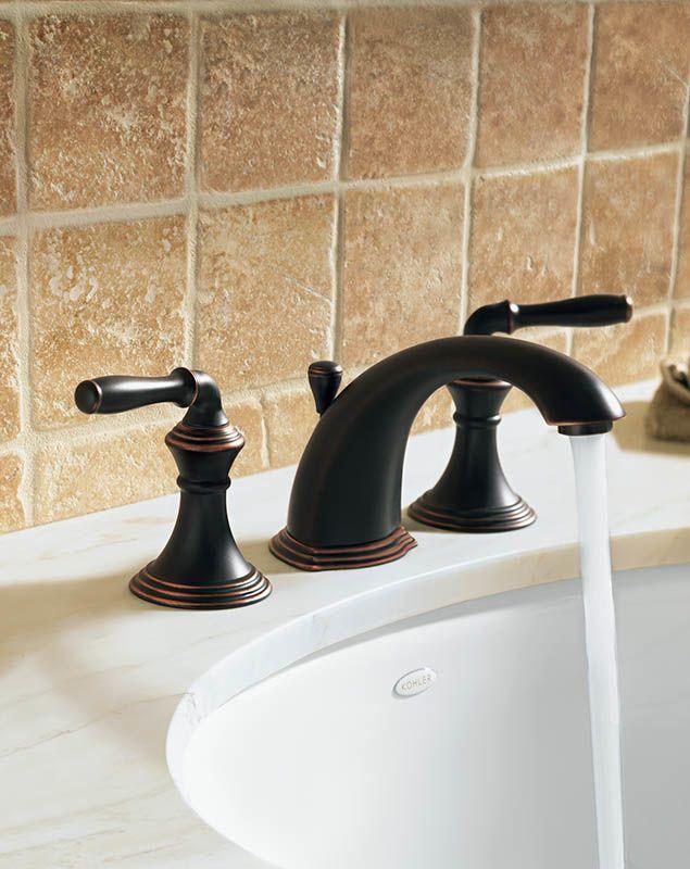Kohler Faucet Installation : Kohler K-394-4-BN Brushed Nickel Devonshire Widespread Bathroom Faucet ...