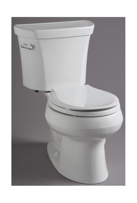 Kohlers Toilets : Kohler K-3997-0 White 1.28 GPF Two-Piece Round Toilet with 12