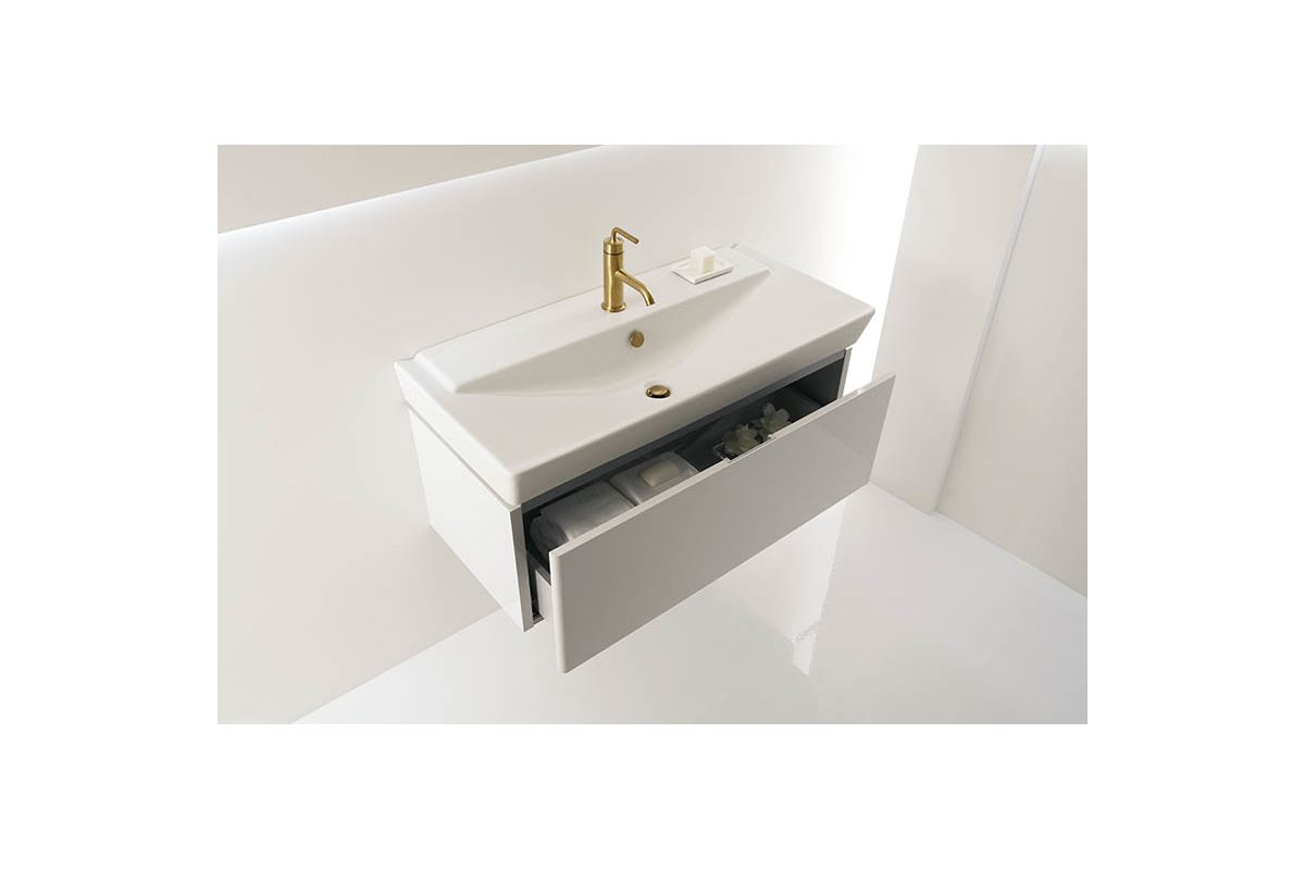 Kohler Ada Sinks : ... quot Fireclay Drop In Bathroom Sink with1 Hole Drilled and Overflow