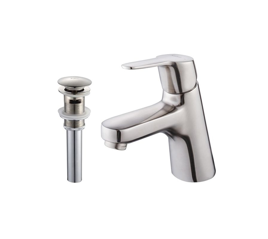 Kraus KEF-14901-PU16BN Brushed Nickel Ferus Single Hole Bathroom ...