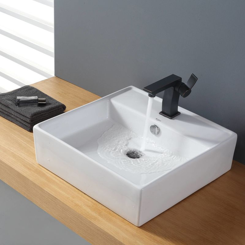 Where Are Kraus Sinks Manufactured : ... Vessel Bathroom Sink with Faucet, Pop-Up Drain, and Mounting Ring