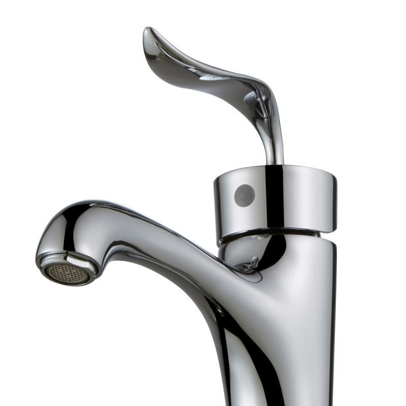 Kraus Bathroom Faucets : Kraus FVS-13800-PU-10CH Chrome Coda? Single Lever Vessel Bathroom ...