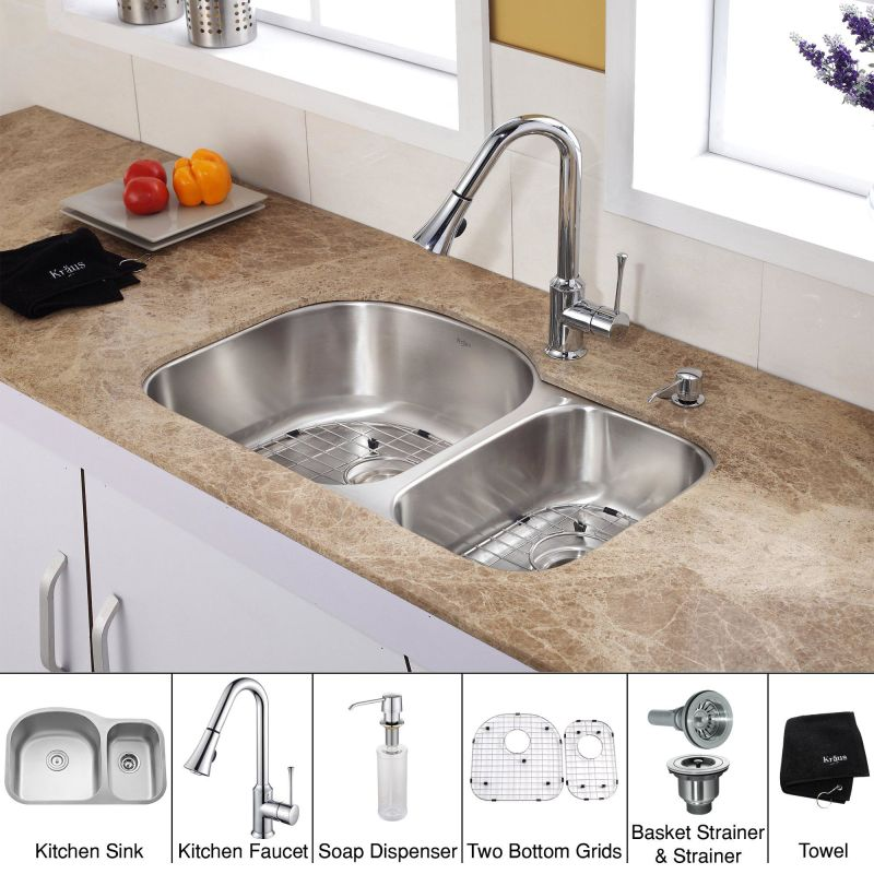 Kbu23 kpf1650 ksd30ch in chrome by kraus for Faucet and soap dispenser placement
