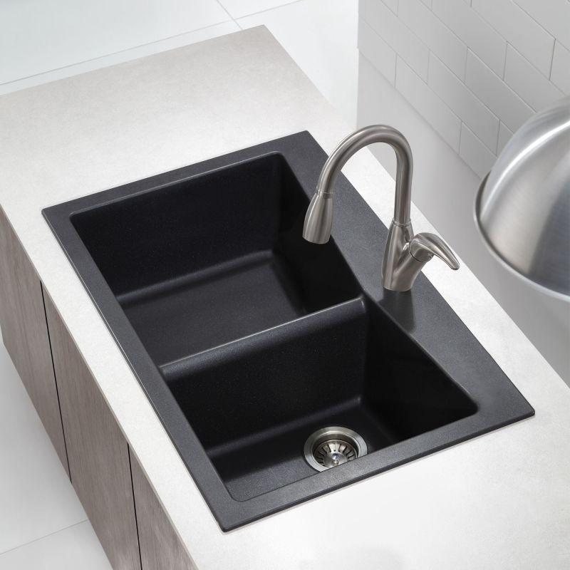 ... Drop In or Undermount) Granite Composite Kitchen Sink with 60/40 Split