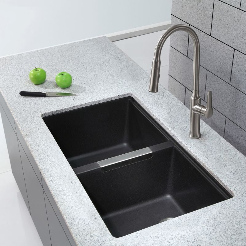 Franke Black Kitchen Sink: KGU-434B In Black Onyx By Kraus