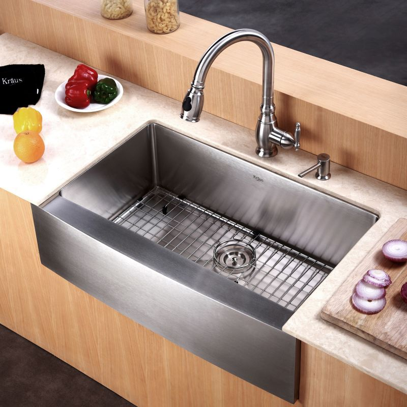 Where Are Kraus Sinks Manufactured : Kraus KHF200-30 Stainless Steel 29-3/4