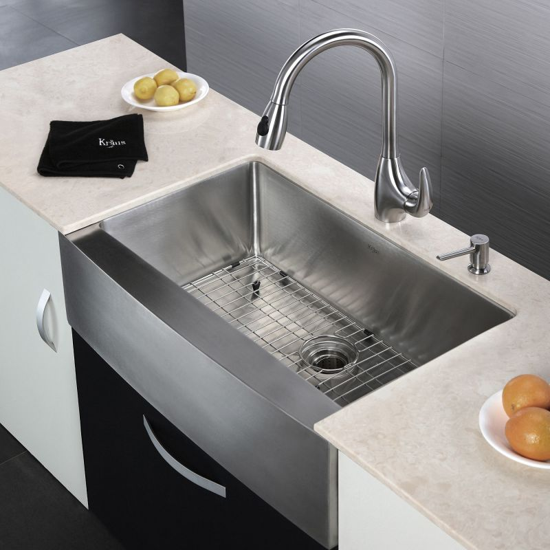 Kraus Sink Installation : Kraus KHF200-33 Stainless Steel 33