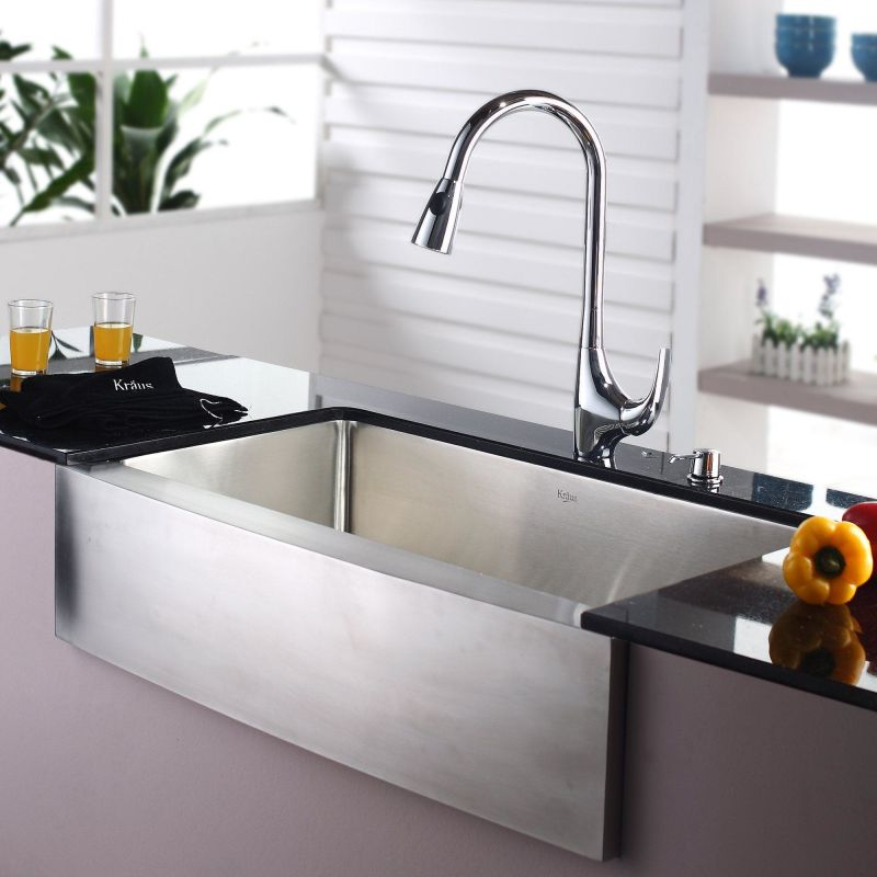 Where Are Kraus Sinks Manufactured : Faucet.com KHF200-36-KPF1621-KSD30CH in Stainless Steel / Chrome by ...