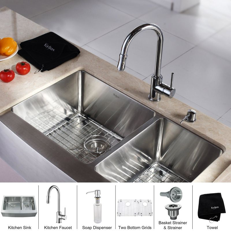 Faucet Com Khf203 33 Kpf1622 Ksd30ch In Stainless Steel