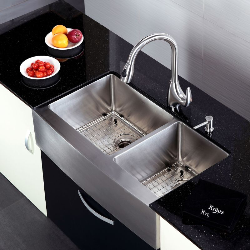 Where Are Kraus Sinks Manufactured : Kraus KHF203-36 Stainless Steel 36