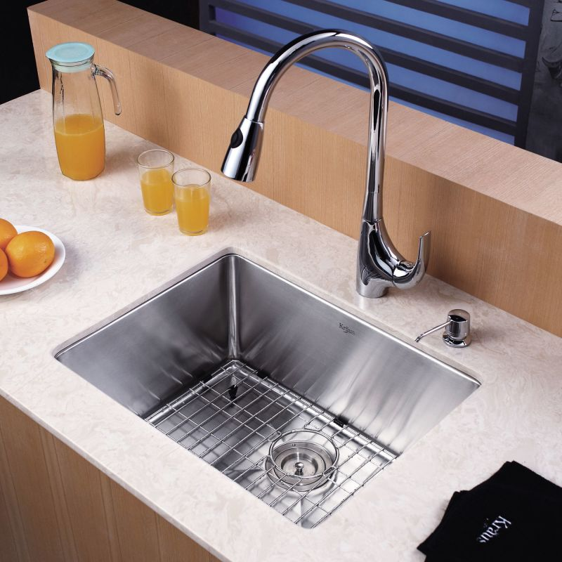 Kraus Sink Installation : Kraus KHU101-23 Stainless Steel 23