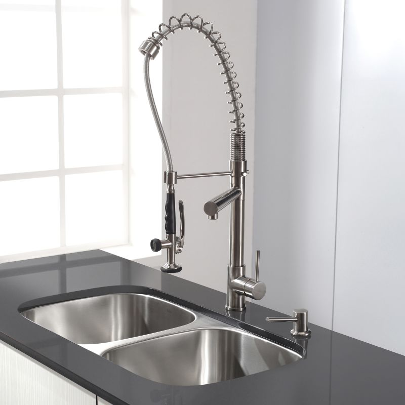 1602 chrome commercial style pre rinse kitchen faucet with pot filler