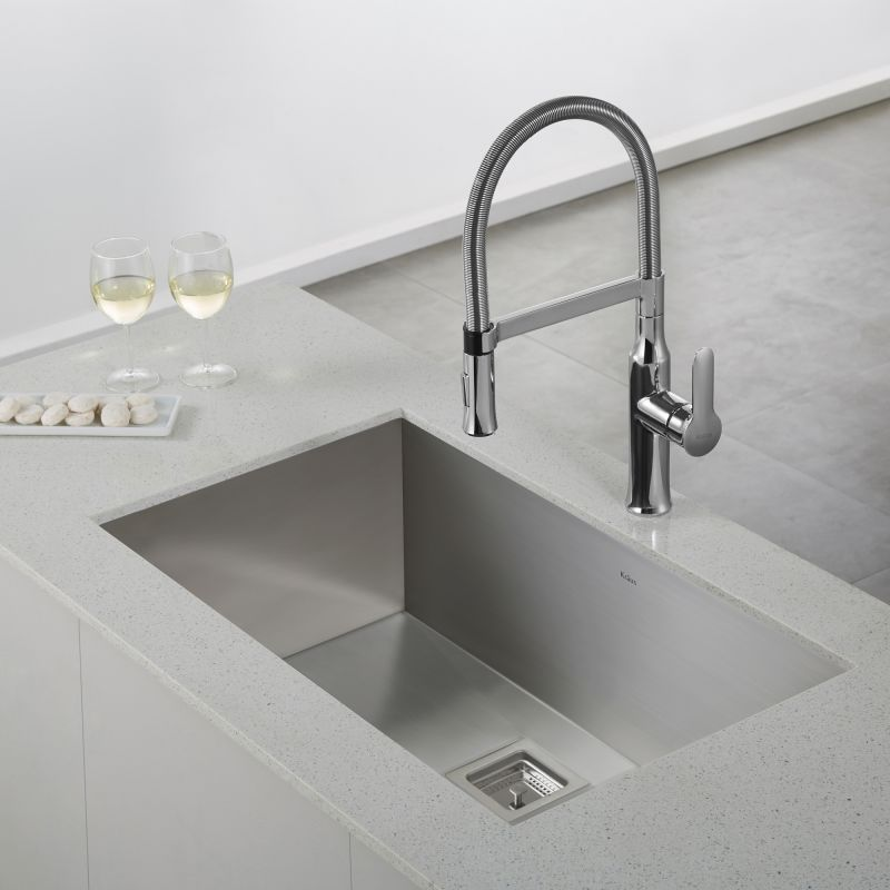 ... Stainless Steel Nola Single Lever Flex Commercial Style Kitchen Faucet