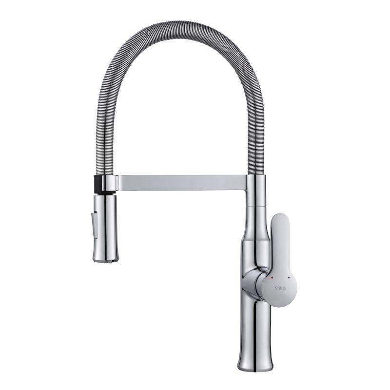 ... -1640CH Chrome Nola Single Lever Flex Commercial Style Kitchen Faucet