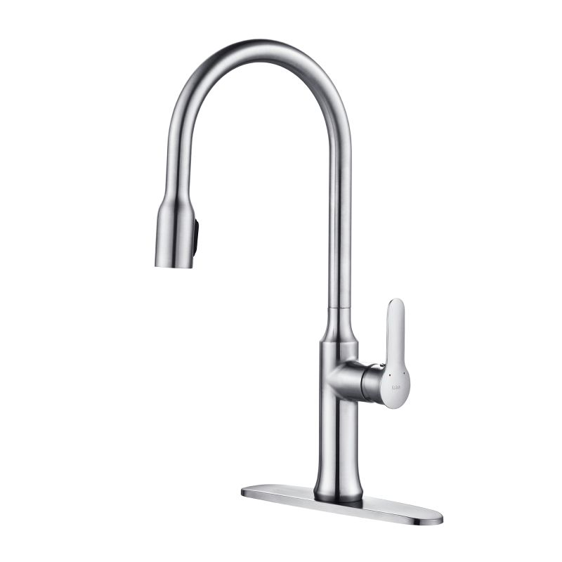 Kraus Bathroom Faucet : Kraus KPF-1660CH Chrome Nola Single Lever Concealed Pull Down Kitchen ...