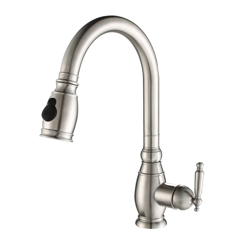Kraus Plumbing Fixtures : Kraus KPF-2150 Stainless Steel Stainless Steel Pullout Spray Kitchen ...
