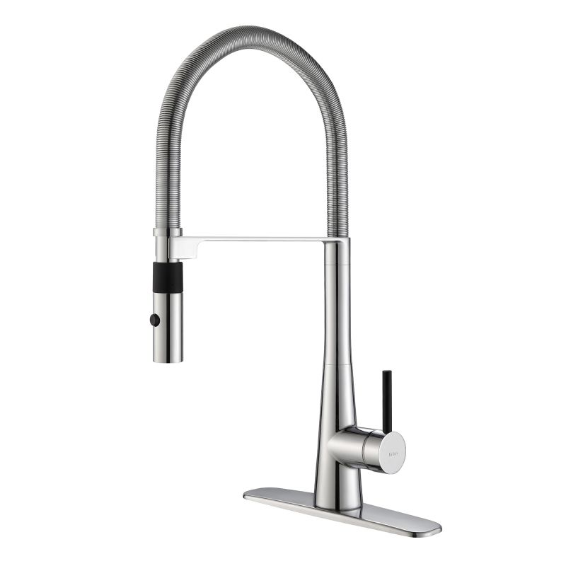 Kraus KPF-2730CH Chrome Crespo Single Lever Commercial Style Kitchen ...