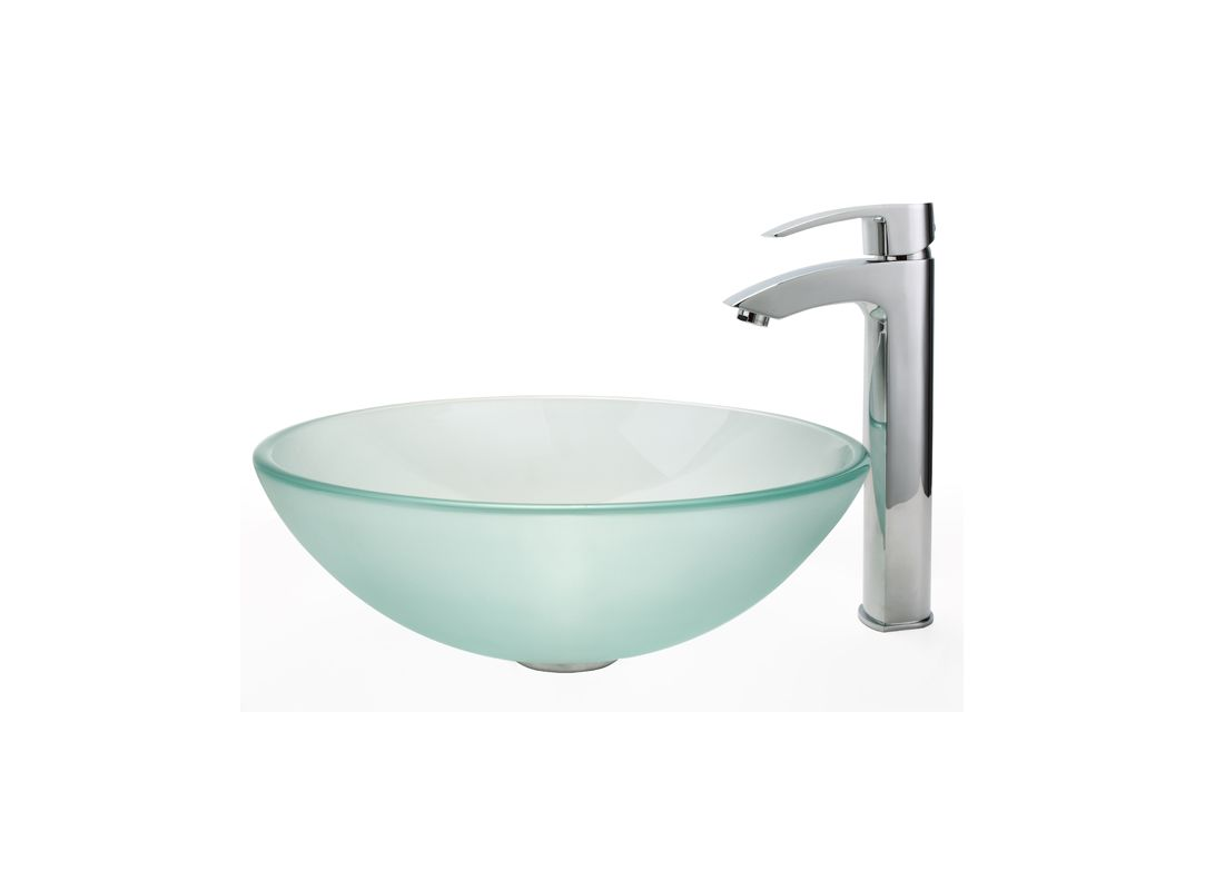 Where Are Kraus Sinks Manufactured : ... Bathroom Sink with Vessel Faucet, Pop-Up Drain, and Mounting Ring