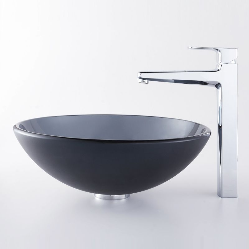 Kraus Sink Parts : ... Bathroom Sink with Vessel Faucet, Pop-Up Drain, and Mounting Ring