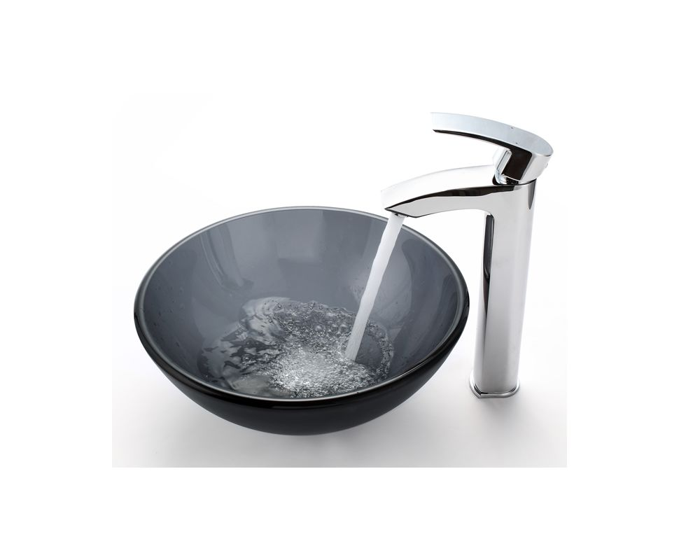 Where Are Kraus Sinks Manufactured : Kraus FVS-1810CH Chrome Visio Single Hole Vessel Bathroom Faucet