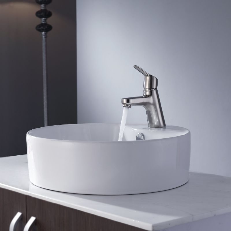 Where Are Kraus Sinks Manufactured : Kraus KEF-14901BN Brushed Nickel Exquisite Single Hole Bathroom Faucet