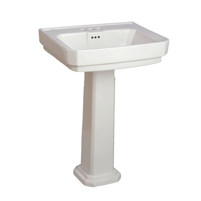 ... Pedestal Bathroom Sink with 3 Faucet Holes (4