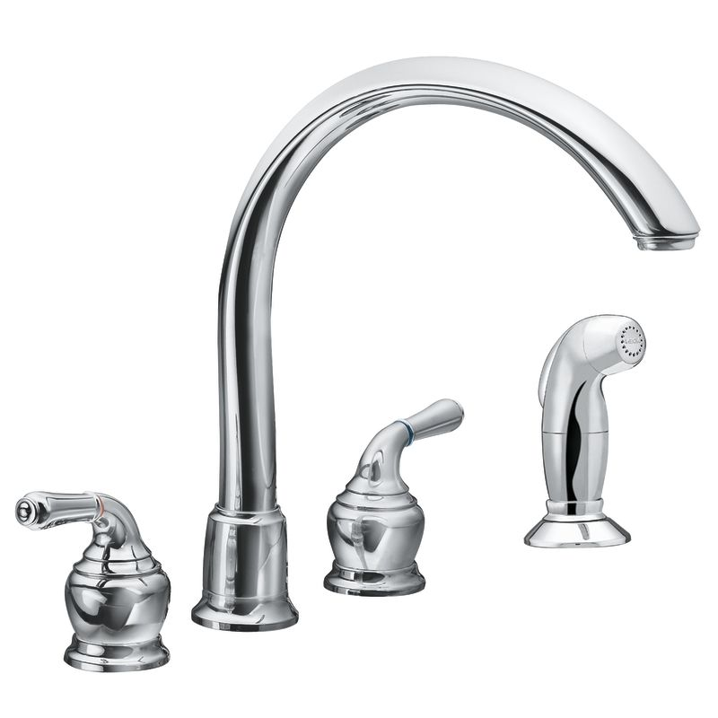 how to replace a moen kitchen faucet faucet com 7786 in chrome by moen 7339