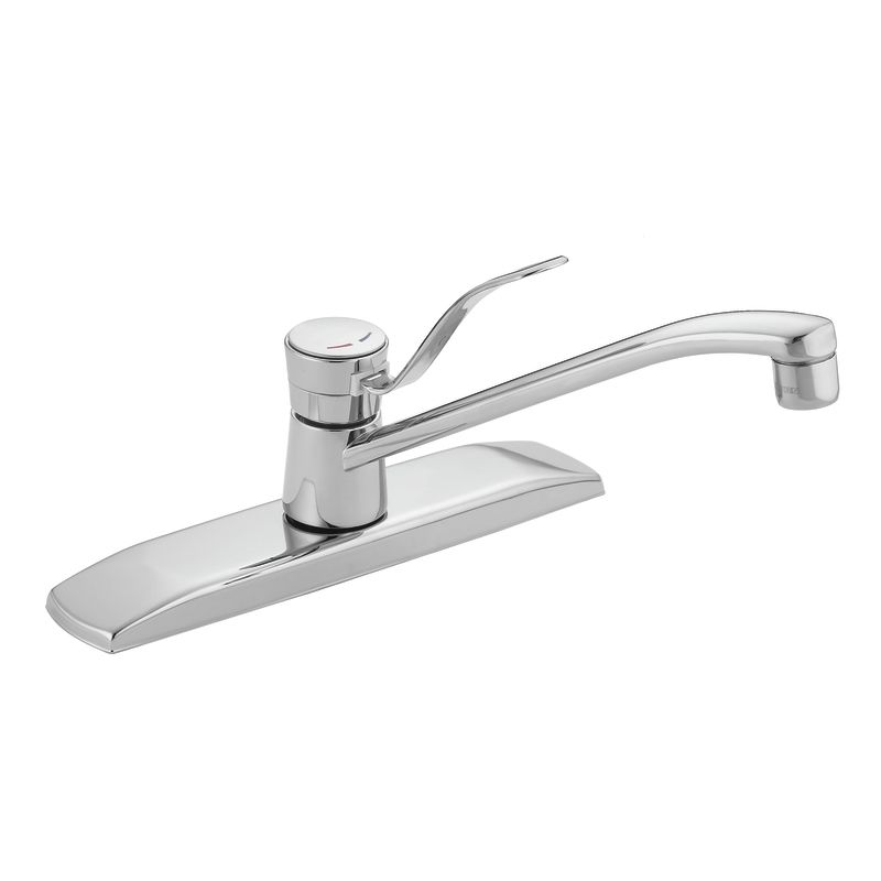 moen one handle kitchen faucet repair faucet com in chrome by moen