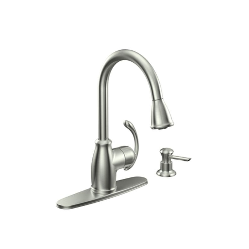 faucet com ca87055srs in spot resist stainless by moen