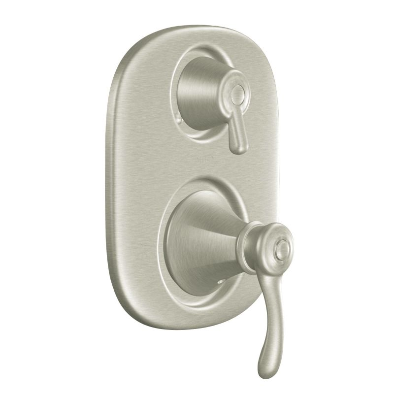 moen 604sbn brushed nickel pressure balanced shower system with 2 gpm