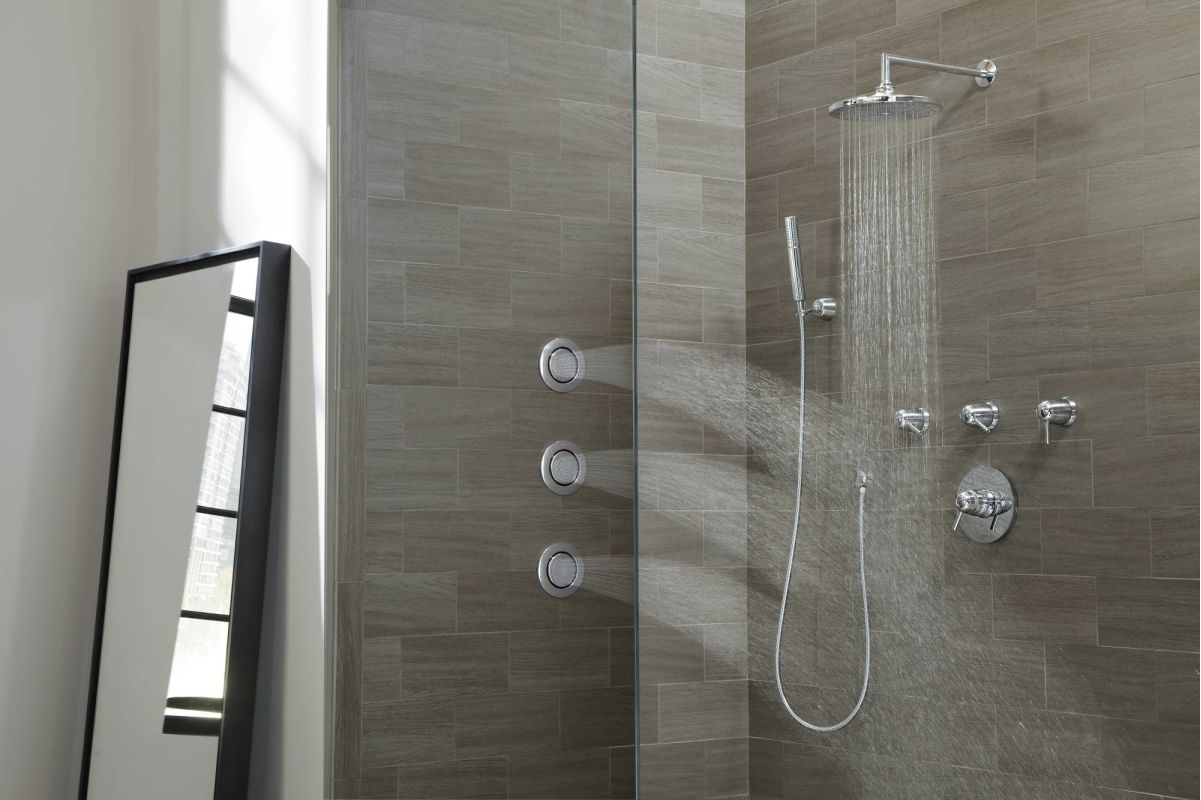 776bn in brushed nickel by moen for Body spray shower systems