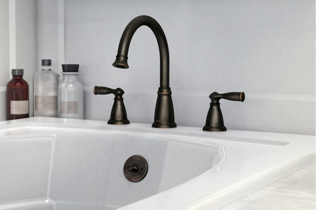 Faucet Com 86924brb In Mediterranean Bronze By Moen