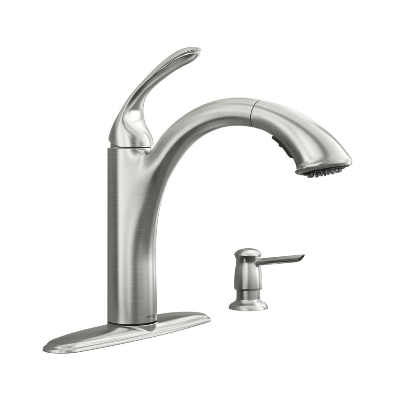 faucet 87035srs in spot resist stainless by moen