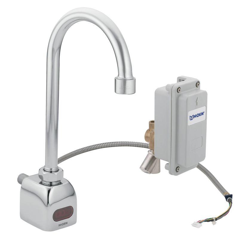 moen ca8304 chrome electronic wall mounted single hole bathroom faucet