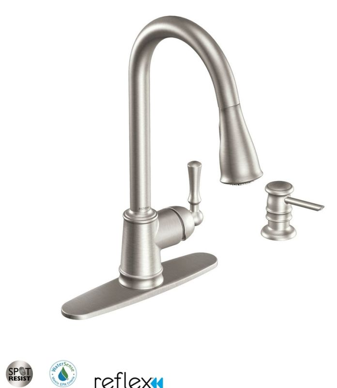 faucet ca87020srs in spot resist stainless by moen
