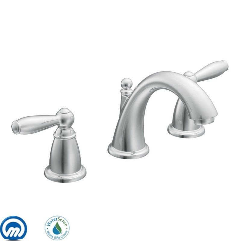 Widespread Bathroom Faucet Clearance : Moen T6620 Chrome Double Handle Widespread Bathroom Faucet from the ...