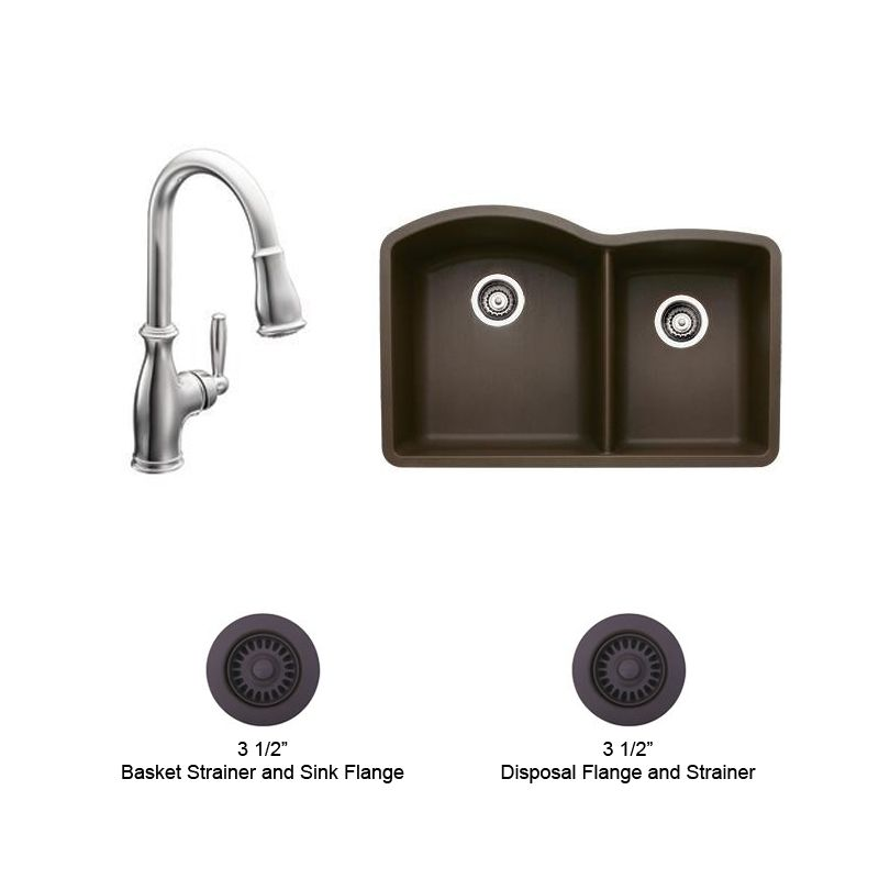 Blanco Kitchen Faucet Replacement Parts : Brantford and Blanco Kitchen Combo 1 -CH Chrome Double Basin Kitchen ...