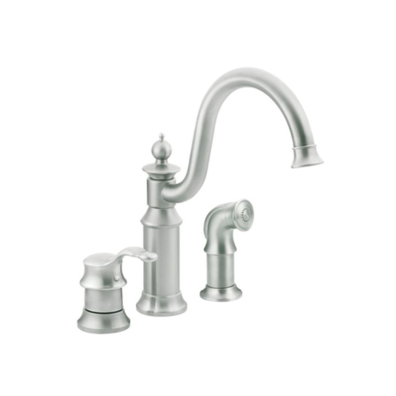 Moen Kitchen Faucets : Moen S711CSL Classic Stainless High-Arc Kitchen Faucet with Side Spray ...