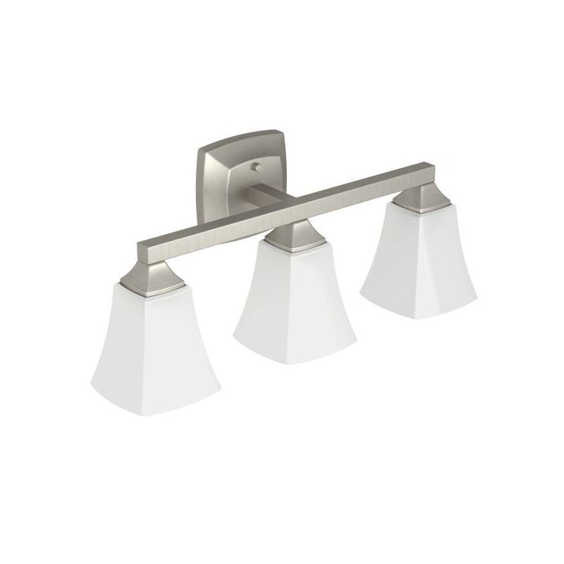 Moen Brushed Nickel Vanity Lights : Faucet.com YB5163BN in Brushed Nickel by Moen