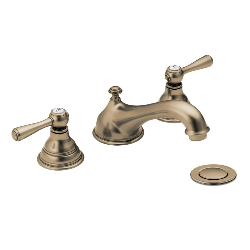 Moen T6105 Double Handle Widespread Bathroom Faucet From The Kingsley Collection Less Valve