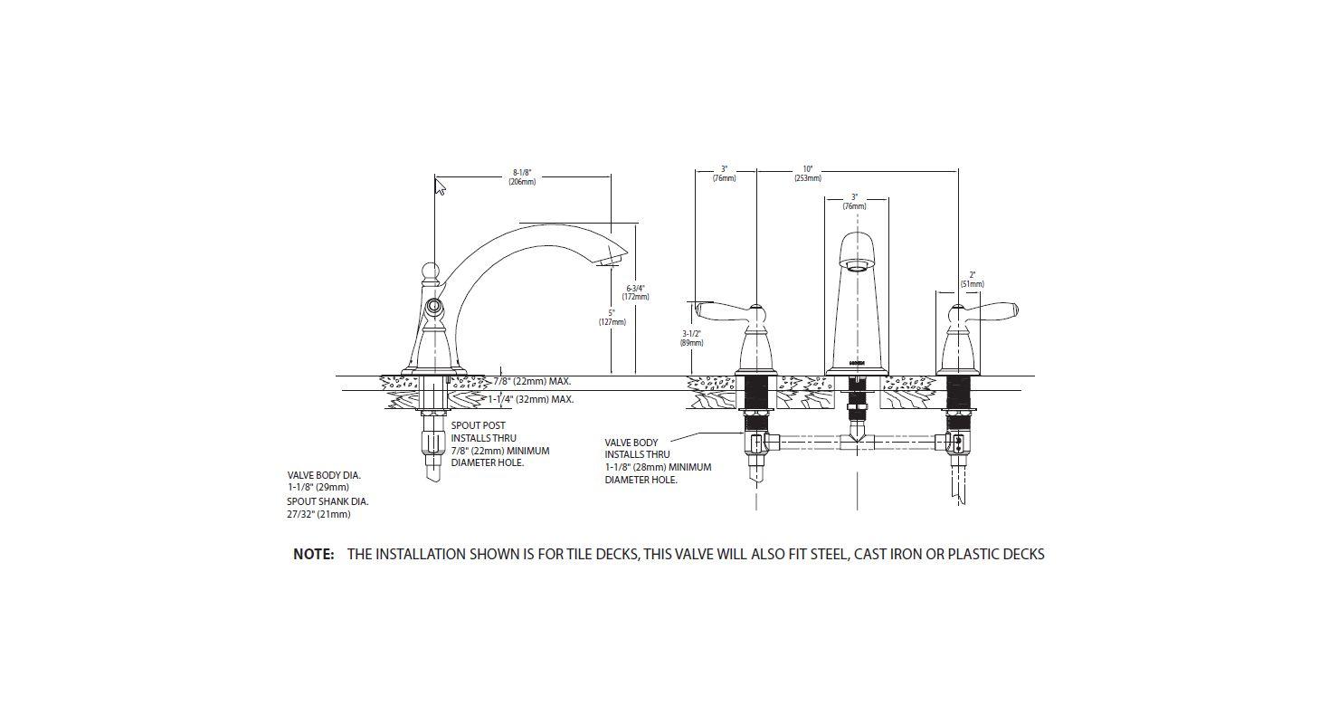 Moen Diverter Valve Lookup Beforebuying American Standard Kitchen Faucet Parts Diagram Roman Tub
