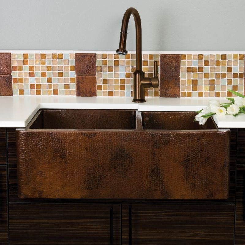 Discount Farmhouse Sinks : ... Antique Copper Farmhouse Duet 33